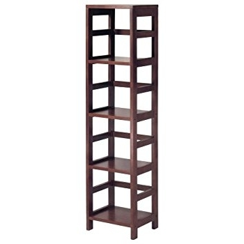 Latest Very Narrow Shelving Unit With Amazon: Winsome Wood 4 Shelf Narrow Shelving Unit, Espresso (View 7 of 15)