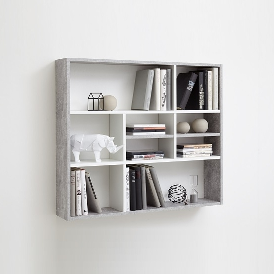 Latest White Shelving Units Intended For Andreas Wall Mounted Shelving Unit In White And Light Atelier Ikea (View 5 of 15)
