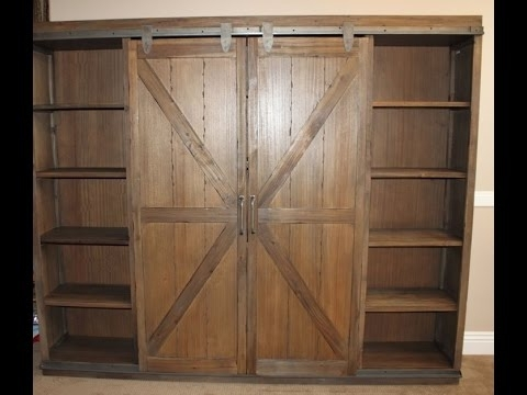 Latest World Market Barn Door Bookcase Assembly – Youtube For World Market Bookcases (View 4 of 15)