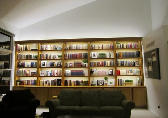 Library Bookcases Lighting Regarding Well Known Inspired Led  Bookcase Lighting – Modern – Living Room – Phoenix (View 7 of 15)
