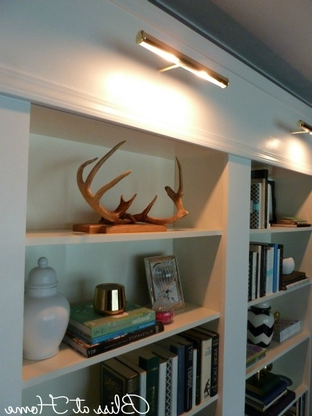 Library Bookcases Lighting Throughout Favorite Ikea Billy Bookcase Library Wall >>> Lights On Remote (View 8 of 15)