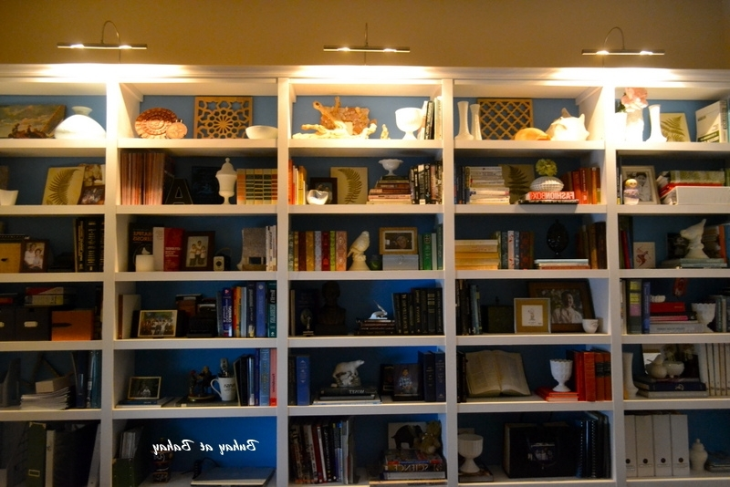 Library Bookcases Lighting Within Widely Used Bookshelves With Lights Bookcase Swing Arm Lamps Google Search (View 6 of 15)