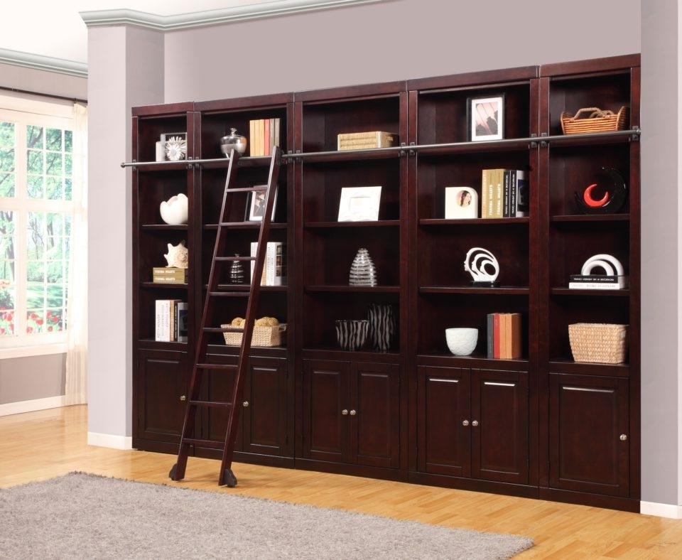Library Bookcases Wall Unit Throughout Most Recently Released Wall Units: Stunning Bookshelf Wall Units Large Wall Unit (View 14 of 15)