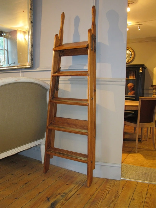 Library Ladder With Most Up To Date Wooden Library Ladders (View 9 of 15)