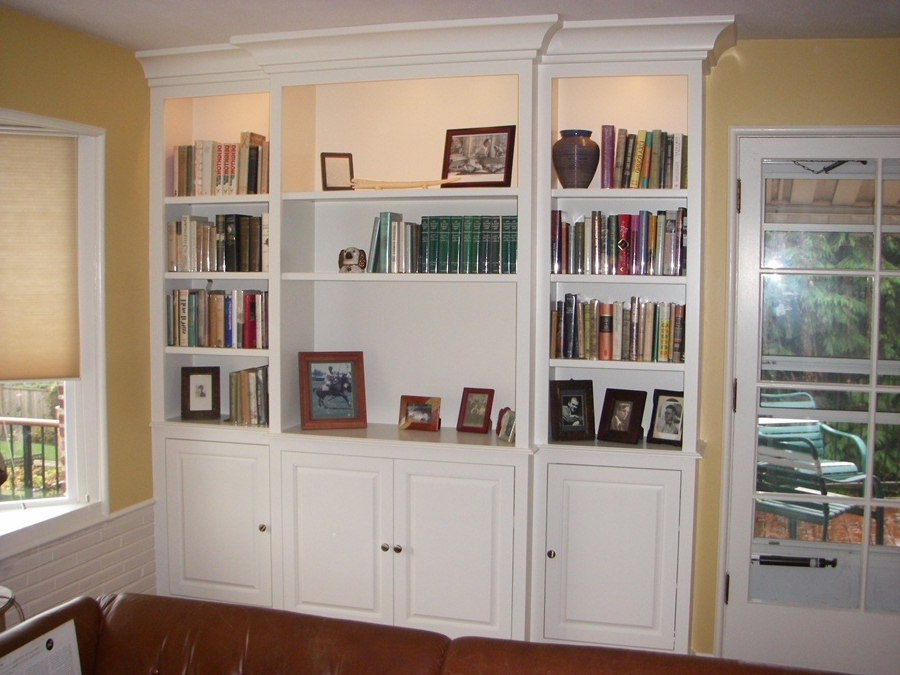 Library White Bookcase With Doors : Useful White Bookcase With With Most Recently Released White Library Bookcases (View 7 of 15)