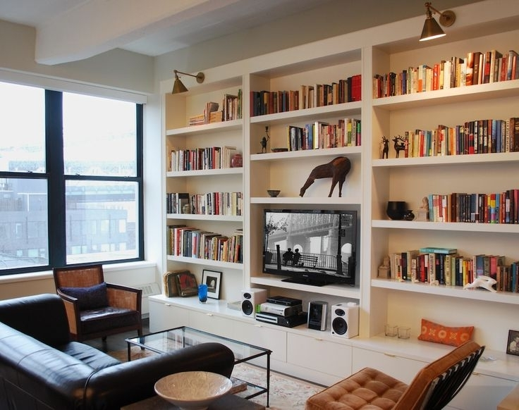 Living Room Entertainment Pertaining To Bookcases With Tv (View 8 of 15)