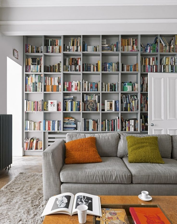 Living Room For Wall To Wall Bookcases (View 8 of 15)