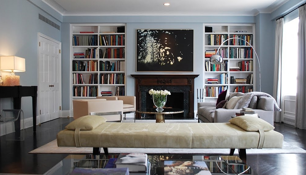 Living Room : Tall Living Room Bookcase Ideas With Fireplace In Pertaining To Fashionable Family Room Bookcases (View 14 of 15)
