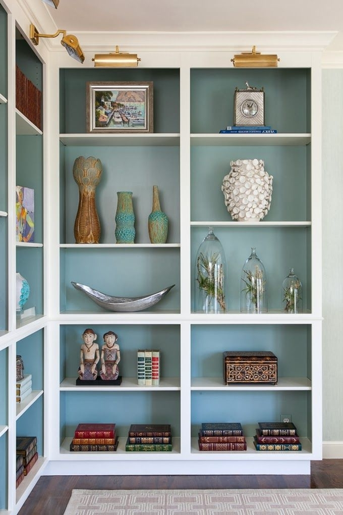 Living Room Throughout Widely Used Painted Bookshelves (View 6 of 15)