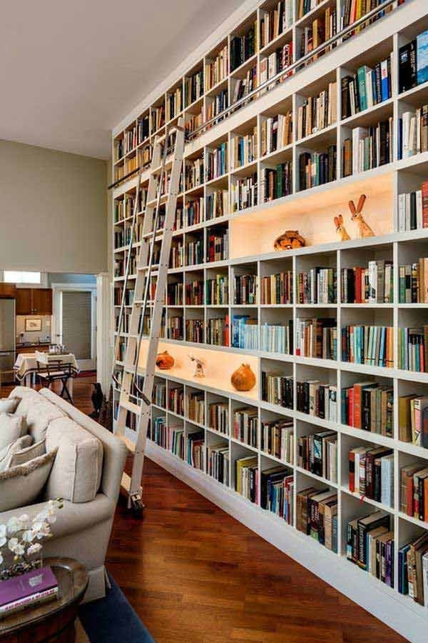 Featured Photo of Full Wall Bookshelves