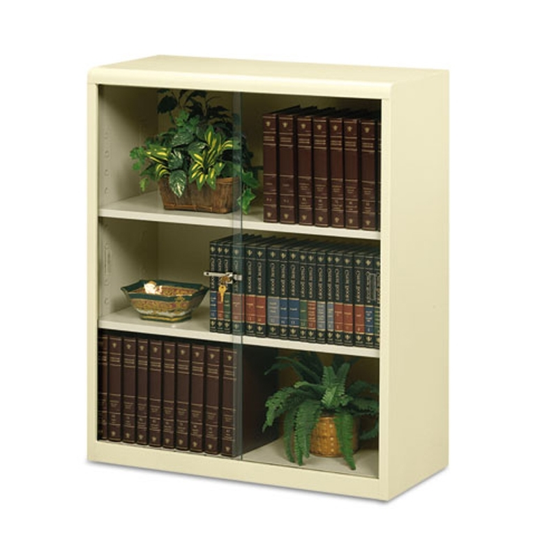 Lockable Bookcases For Recent 3 Shelf Metal Bookcase W/ Locking Glass Doors (View 4 of 15)