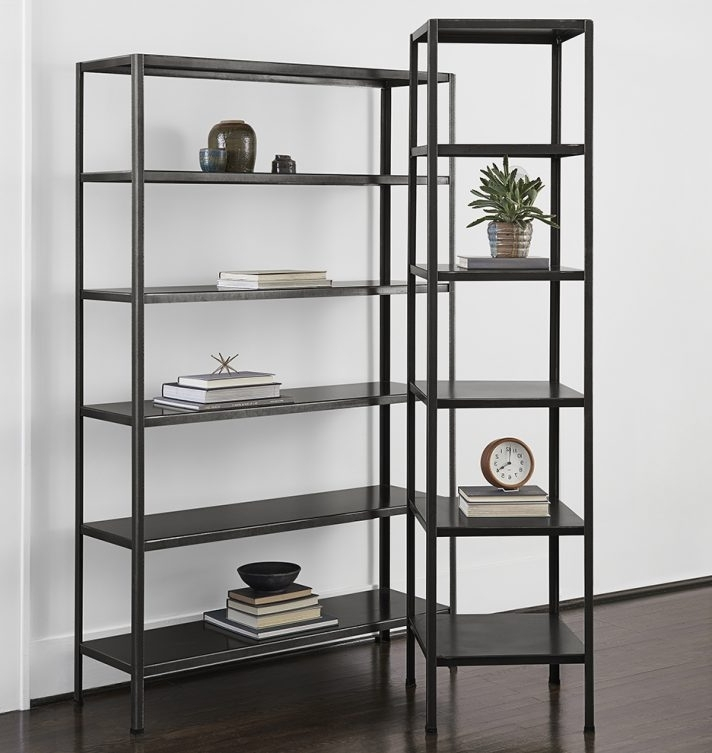 Locking Bookcases Pertaining To Newest Shocking Metal Bookcase Images Concept Shelves Bookcases With (View 15 of 15)