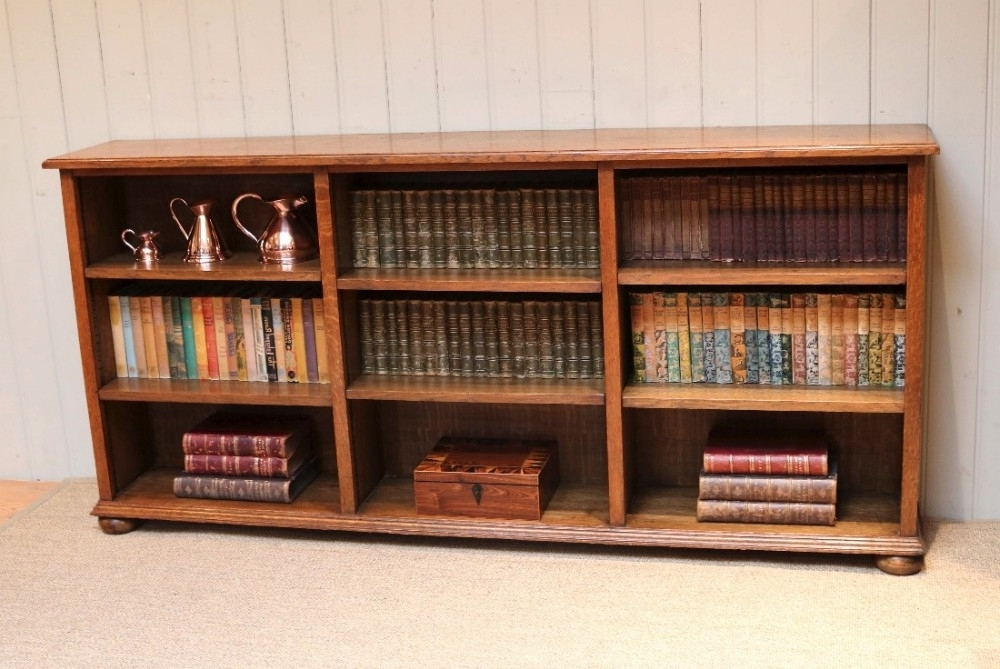 Long Horizontal Bookcases Within Newest Bookshelf: Glamorous Low Wide Bookcase Bookcase With Doors, Cheap (View 12 of 15)