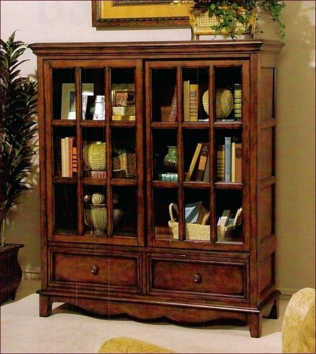 Low Bookcases With Doors Furniture Great Solid Pine Wide Low With Regard To Most Popular Lockable Bookcases (View 9 of 15)