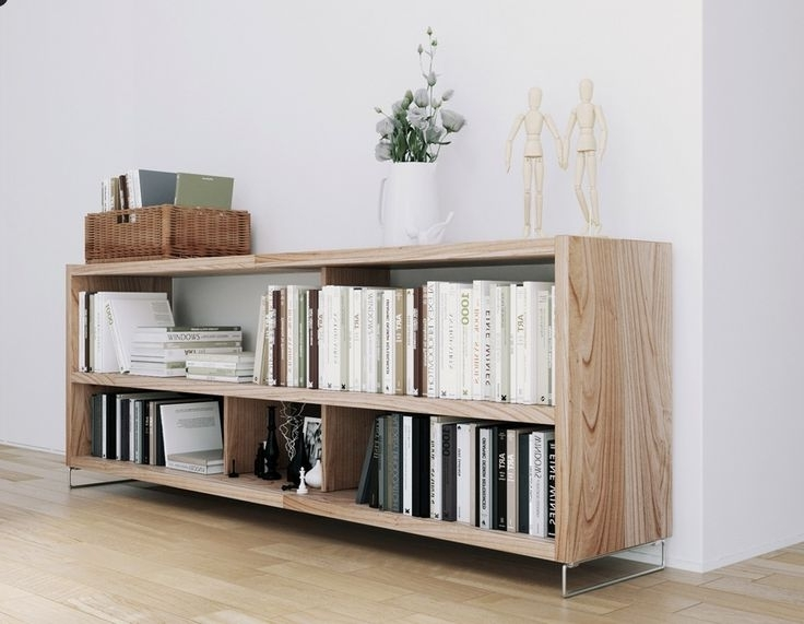 Low Bookcases With Well Liked Bookshelf: Interesting Low Bookcases Bookshelves With Doors (View 10 of 15)