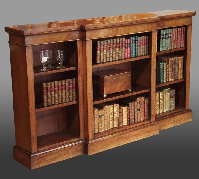 Mahogany Bookcases Pertaining To 2017 Antique Breakfront Bookcase, Antique Dwarf Bookcase, Antique (View 6 of 15)