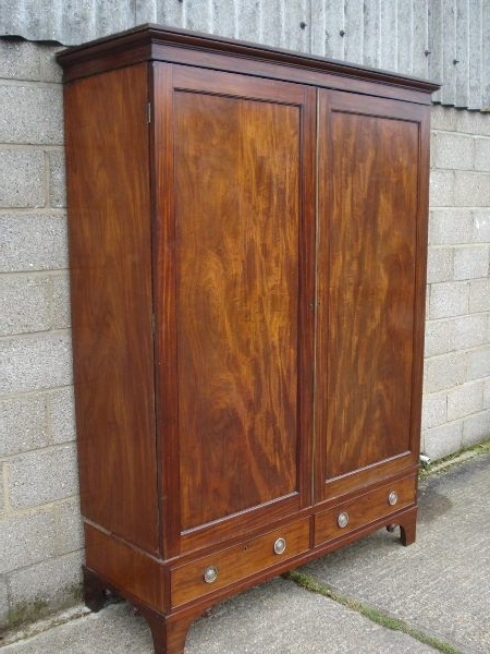 Mahogany Breakfront Wardrobes Intended For Most Up To Date Antique Furniture Warehouse – Large Georgian Mahogany Wardrobe (View 11 of 15)