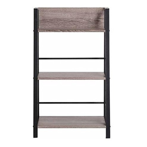 Mainstays 3 Shelf Bookcases In Famous Mainstays 3 Shelf Bookcase, Reclaimed Wood: 0791756288292: Amazon (View 4 of 15)