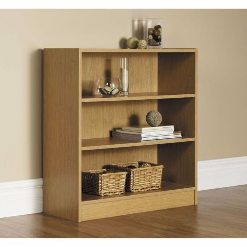 Mainstays 3 Shelf Bookcases In Trendy Bookcase Set Of 2 Wide 3 Shelf Adjustable Bookshelf Storage Home (View 5 of 15)