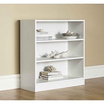 Mainstays 3 Shelf Bookcases Inside Famous Amazon: Mainstays 3 Shelf Bookcase (View 6 of 15)