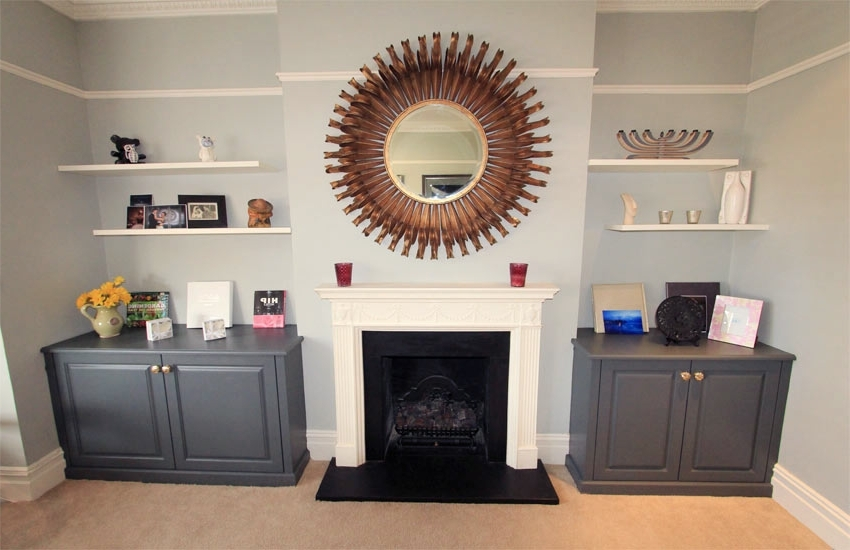 Mdf Alcove Fitted Furniture, Bespoke Storage Cabinets (View 11 of 15)