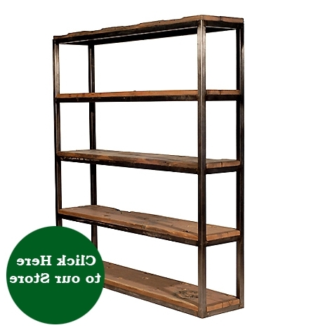 Metal And Wood Bookcases Within Most Popular Salvaged Wood And Metal Bookcase – Hudson Goods Blog (View 11 of 15)