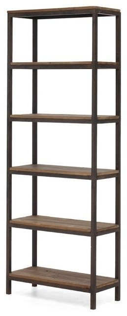Metal Bookcases Regarding Preferred Civic Wood And Metal Bookshelf Modern Bookcases New York Metal (View 8 of 15)