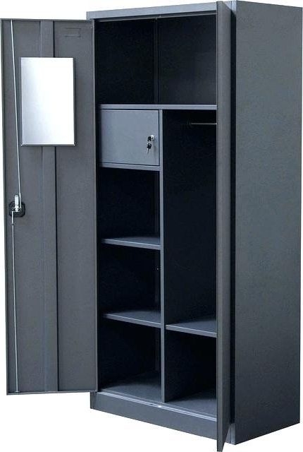 Metal Wardrobes With Most Current Metal Wardrobe Storage Cabinet – Christlutheran (View 8 of 15)