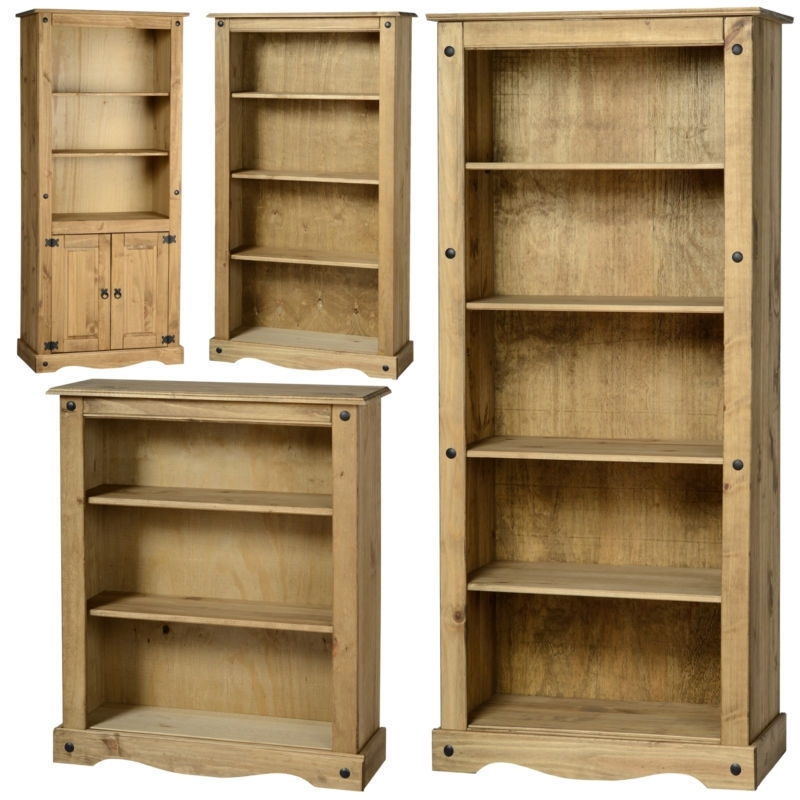 Mexican Pine Corona Bookcase, Bookshelf, Shelves *free Next Day Throughout 2018 Pine Bookcases (View 6 of 15)