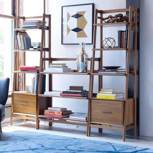 Mid Century Bookshelf – Narrow Tower (View 10 of 15)