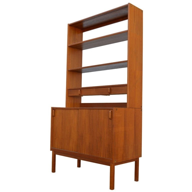 Mid Century Modern Bookcases With Regard To Most Recently Released Swedish Mid Century Modern Teak Storage Bookcasebodafors At (View 7 of 15)