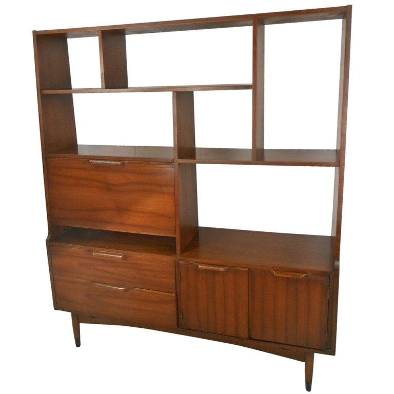 Mid Century Modern Room Divider Bookcase At 1stdibs Intended For Famous Midcentury Bookcases (View 13 of 15)