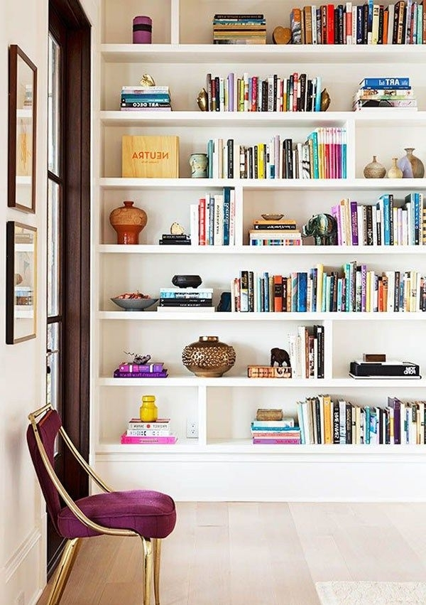 Minimalist In Best And Newest Bookshelves Designs For Home (View 10 of 15)