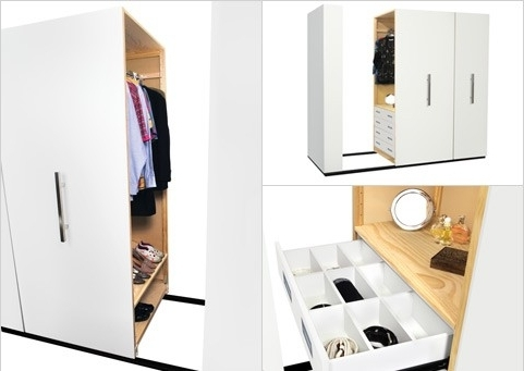 Mobile Wardrobes Cabinets Inside Fashionable Lundia (View 5 of 15)