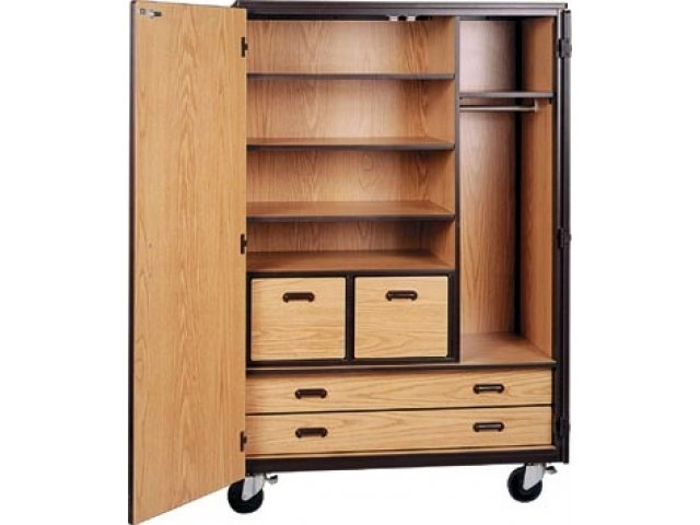 "Mobile Wardrobes Cabinets Regarding Well Known Mobile Wardrobe Storage Closet – 3 Shelves, 4 Drawers, 72""h Irw (View 1 of 15)"
