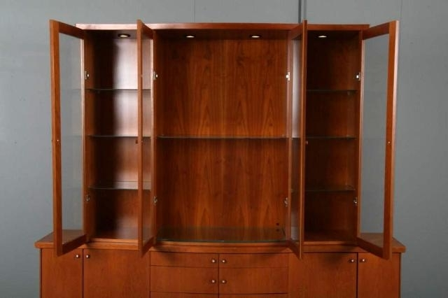 Modern Breakfront Within Well Known Skovby Mid Century Modern China Cabinet Breakfront For Sale (View 10 of 15)