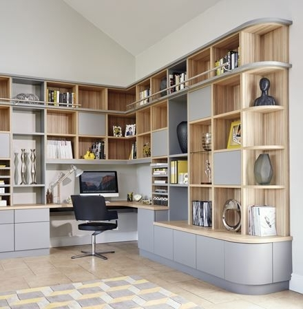 Modern Study Regarding Well Known Study Wall Unit Designs (View 4 of 15)