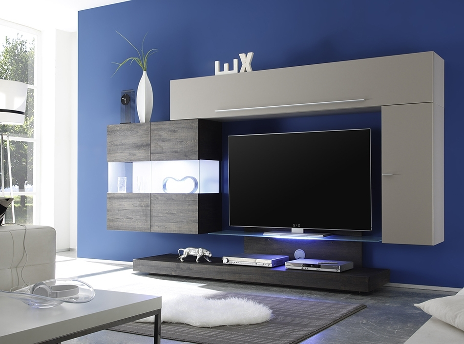 Modern Wall Units Inside Well Liked Mobili Modern Wall Unit Line 2 (View 12 of 15)