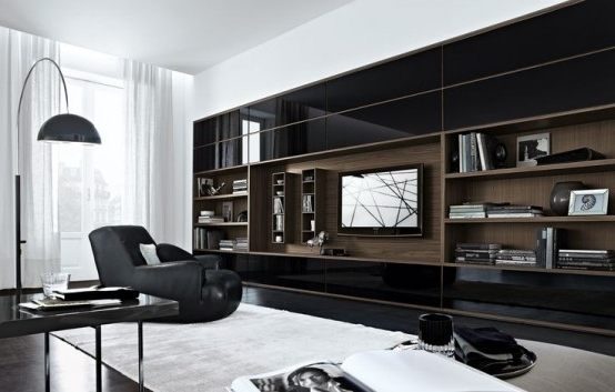 Modern Wall Units With Regard To Most Up To Date 32 Stylish Modern Wall Units For Effective Storage – Digsdigs (View 7 of 15)