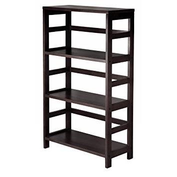 Most Current Amazon: Winsome Wood 3 Shelf Wide Shelving Unit, Espresso With Cheap Shelving Units (View 11 of 15)