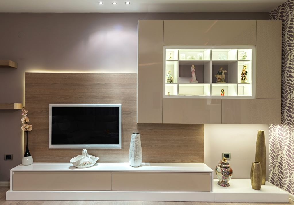 Most Current Bespoke Tv Units Intended For Bespoke Tv Units With Led Lights (View 12 of 15)