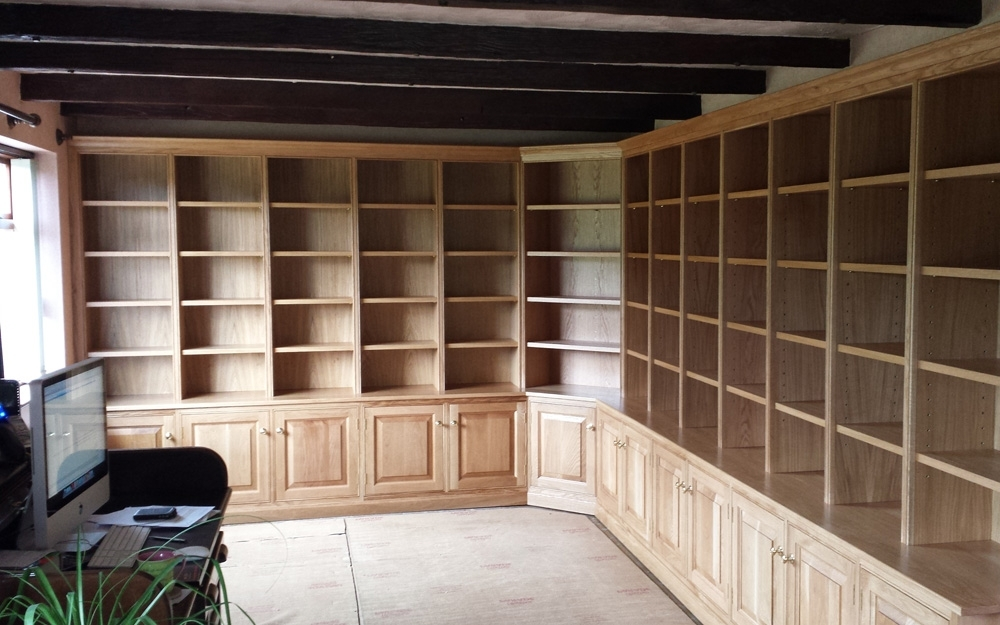 Most Current Bespoke Wooden Shelf Units Custom Made In Yorkshirefine Wood Inside Oak Library Bookcases (View 6 of 15)