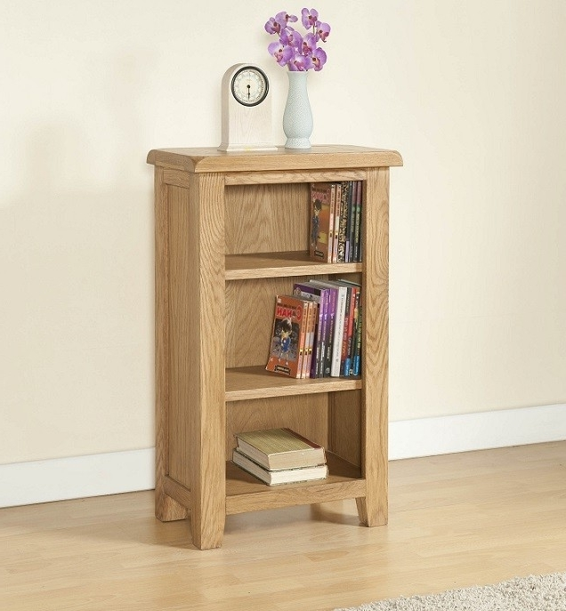 Most Current Cotswold Rustic Light Oak Small Bookcase (View 7 of 15)