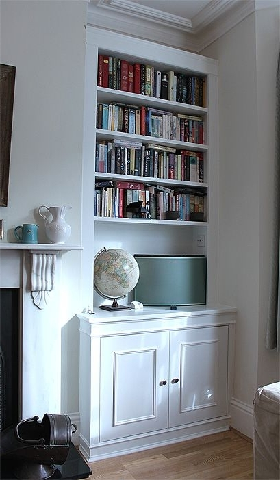 Most Current Cupboard Bookcases Intended For Fitted Wardrobes And Bookcases In London, Shelving And Cupboards (View 6 of 15)