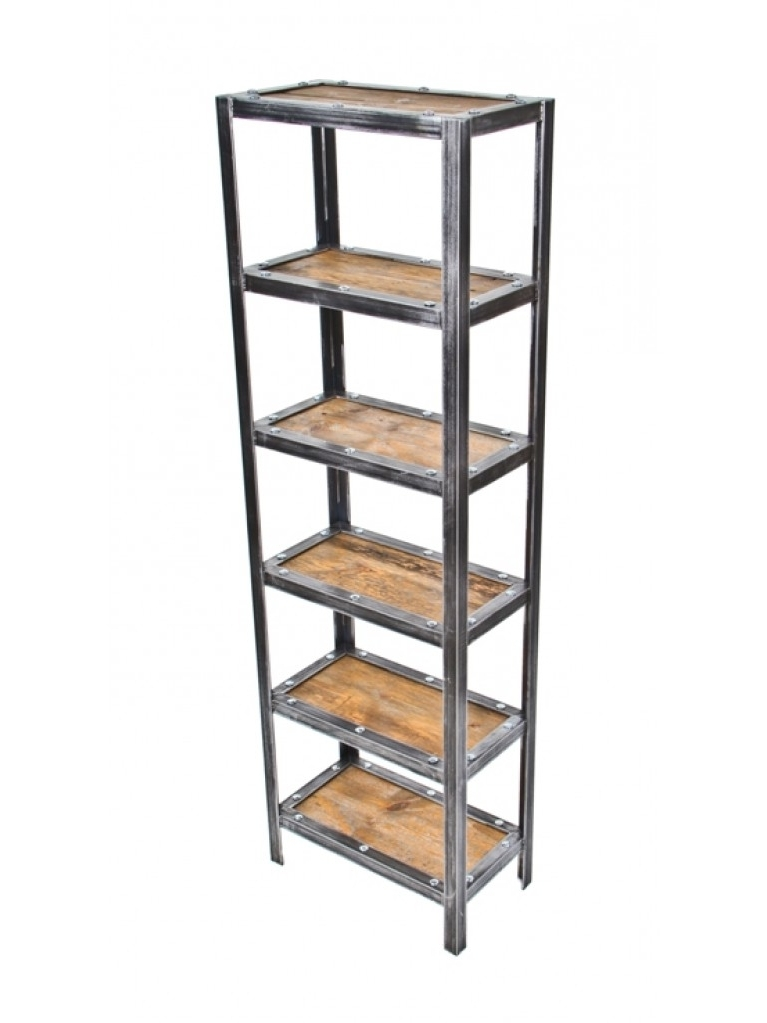 Most Current Free Standing Shelving Units Wood With Regard To Well Built Repurposed American Vintage Industrial Freestanding (View 9 of 15)