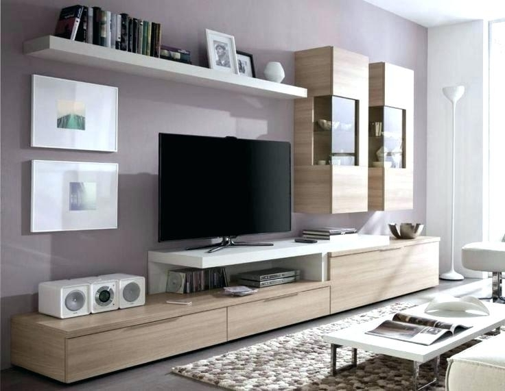 Most Current Furniture White Living Room Storage Unit With Tv Cabinet And Open With Regard To Tv Storage Unit (View 7 of 15)