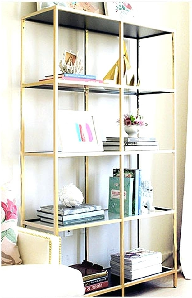 Most Current Gold Metal Bookcases With Regard To Gold Bookcase Scroll To Next Item Maison Bookcase Pbteen Gold (View 10 of 15)