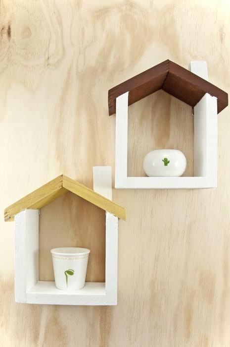Most Current Handmade Wooden Shelves Within Handmade Wooden House Floating Shelf Smalllululoftmelbourne (View 10 of 15)
