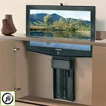 Most Current Hidden Tv Units For Wood Technology Whisper Ride 750 Flat Panel Tv Lift (View 10 of 15)