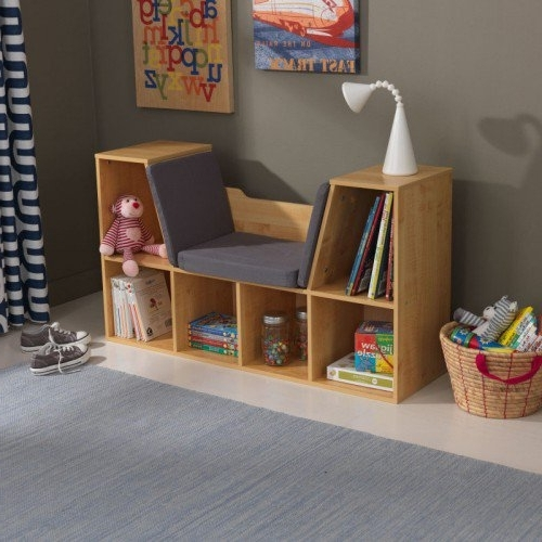 Most Current Kidkraft Bookcases Regarding With Reading Nook – Natural (View 12 of 15)
